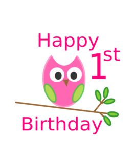 owl 1st birthday clip art at clker com vector clip art online rh clker com happy 1st birthday clip art 1st birthday clip art boy