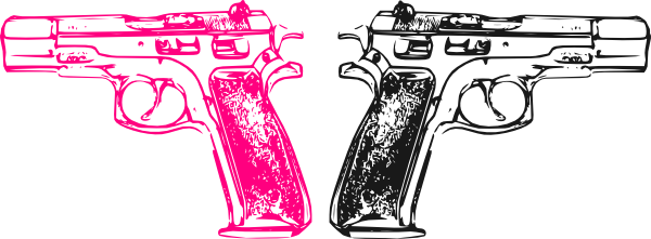 Pink Gun Clip Art At Clker Com Vector Clip Art Online