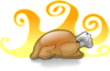 Hot Thanksgiving Turkey Clip Art