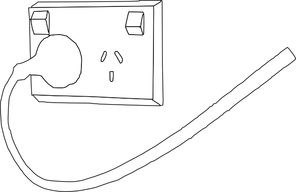 power outlet outline clip art at clker com