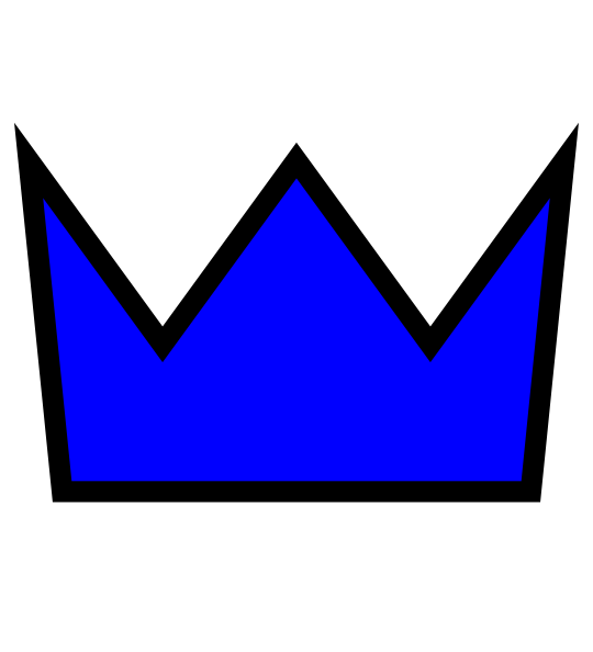 Crown Blue Clip Art at Clker.com - vector clip art online, royalty ...