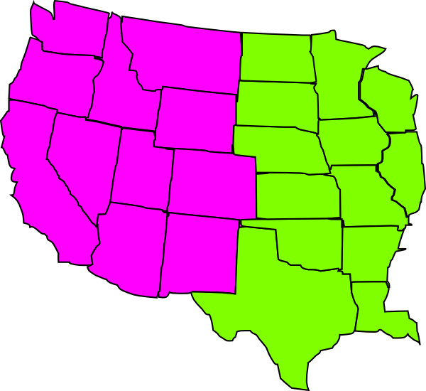 Us Map Regional Clip Art At Clkercom Vector Clip Art Online - Blank map of western us