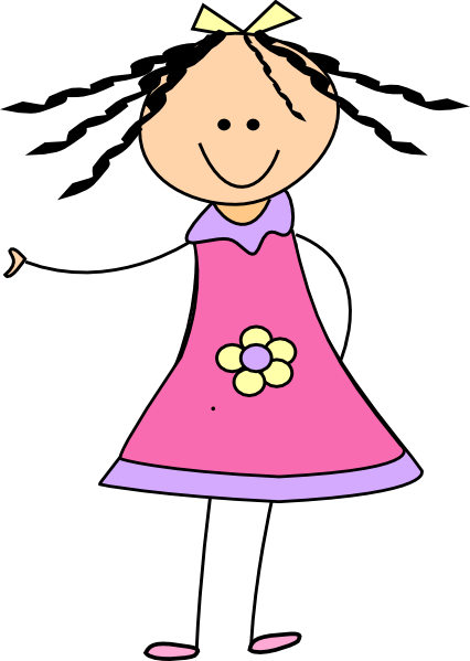 little girl clip art at clker com vector clip art online royalty rh clker com little girl clipart free little girl clipart illustration