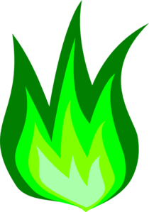 Green Fire Clip Art