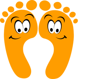 orange happy feet clip art at clker com vector clip art online rh clker com food clip art free foot clip art free