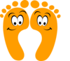 Orange Happy Feet Clip Art
