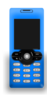 Blue Mobile Phone Clip Art