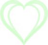 Heart Green Layered Clip Art