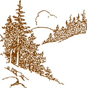 Brown Pine Trees Clip Art