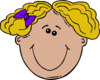 Blonde Haired Girl Clip Art
