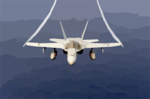 An F/a-18 Hornet Assigned To The Mighty Shrikes Of Strike Fighter Squadron Ninety Four (vfa-94). Clip Art