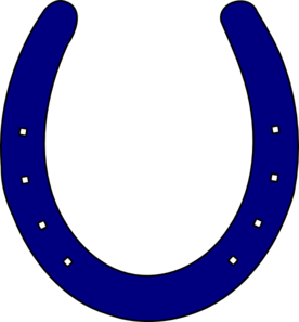 Royal Blue Horseshoe Clip Art