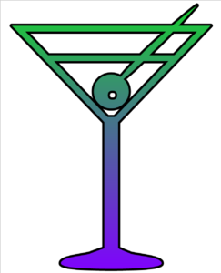 Martini Glass Cutout Clip Art