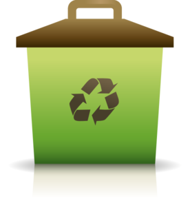 Green Recycling Container Clip Art