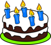 Cake 5 Candles Clip Art