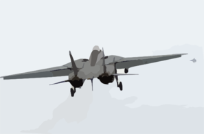 F-14 Tomcat Returns To The Sky After Missing Arresting Wire. Clip Art