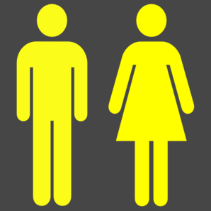 Man Woman Symbol In Yellow Clip Art
