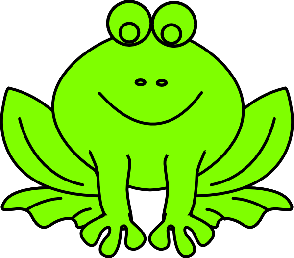 green frog clipart - photo #3