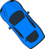 Blue Car - Top View - 130 Clip Art