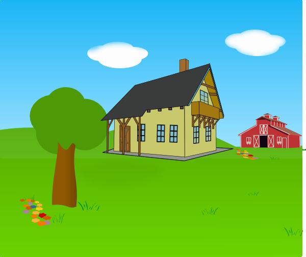 farm backgroun clip art at clker com vector clip art family reunion silhouette clip art Cartoon Family Clip Art
