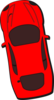 Red Car - Top View - 100 Clip Art
