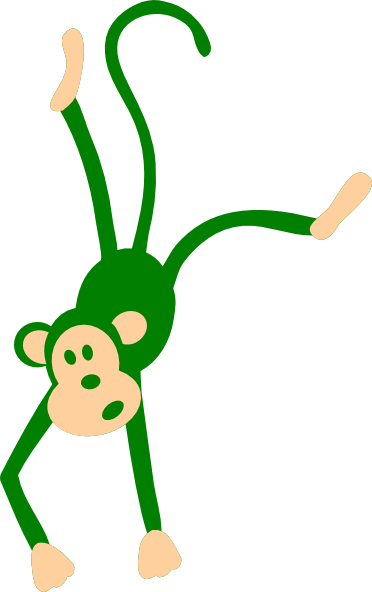 Green Monkey Clip Art at Clker.com - vector clip art online, royalty ...