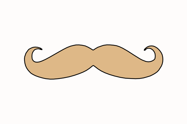 Mustache Clip Art at Clker.com - vector clip art online, royalty ...