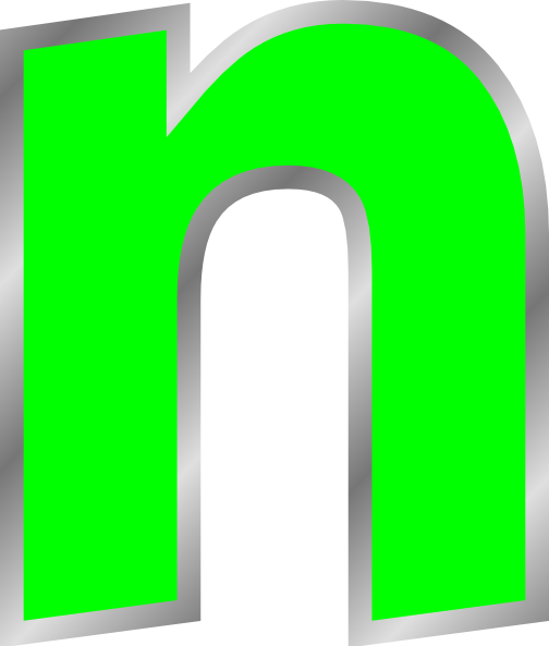 Lowercase N Clip Art at Clker.com - vector clip art online, royalty ...