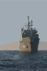 Usns Catawba (t-atf 168) Steams Through The Waters Of The Arabian Gulf Clip Art