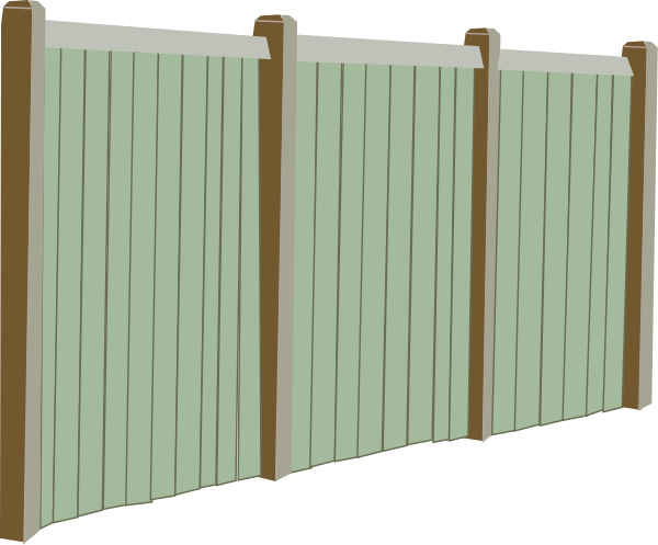 Wood Fence Clip Art At Clkercom Vector Clip Art Online Royalty - Cartoon fence clip art