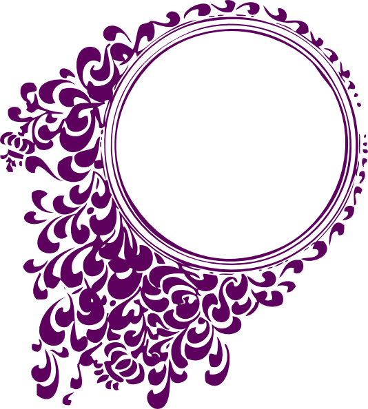 Purple Filigree Circle Clip Art At Clker Com Vector Clip