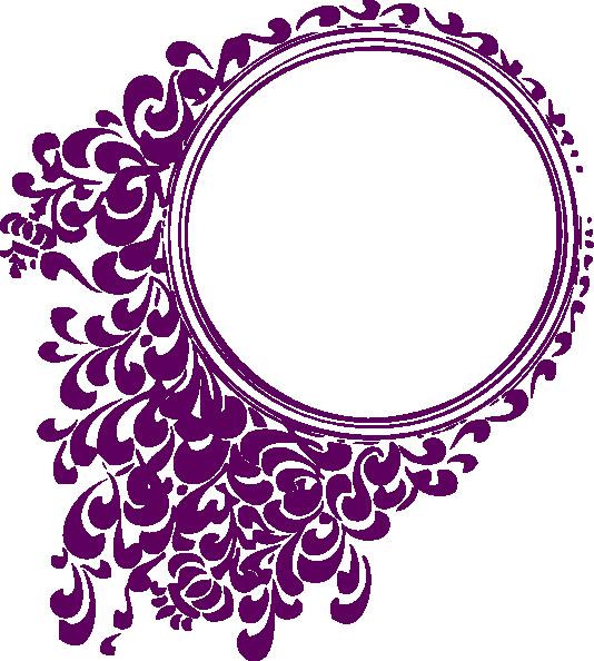 Purple Filigree Circle Clip Art At Clkercom Vector