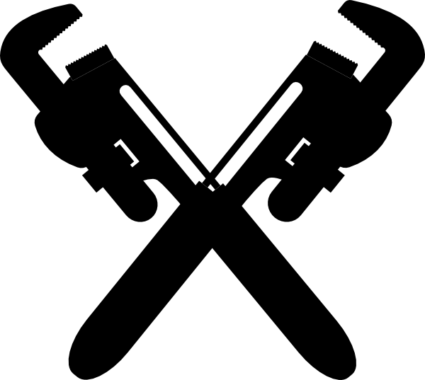 Two Pipe Wrenches Clip Art at Clker.com - vector clip art ...
