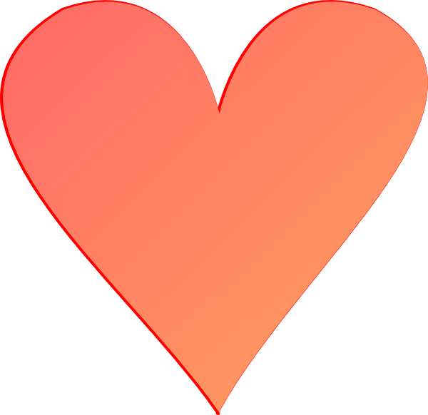 Intertwined Hearts Dark Coral Heart Clip ...