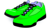 Bright Green Tennis Shoes Clip Art