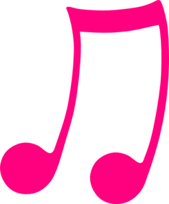Pink Musical Note Clip Art