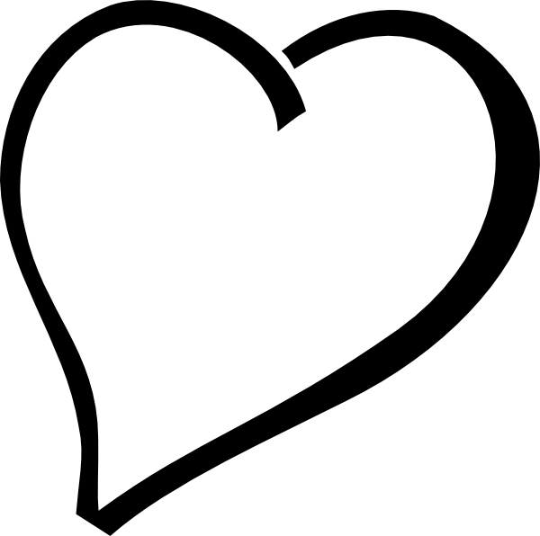single black heart clip art at clker com vector clip art online rh clker com black and white valentine heart clipart free