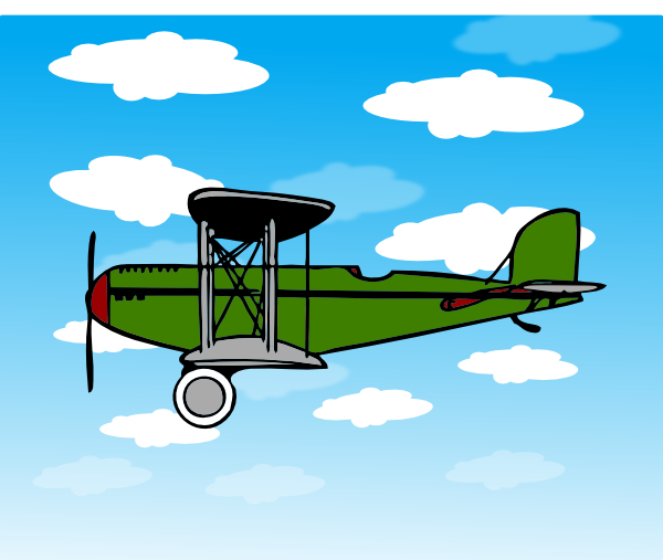 green biplane in clouds clip art at clker com vector airplane clipart powerpoint airplane clipart silhouette