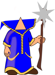 headless blue wizard clip art at clker com vector clip art