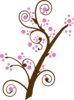Brown Tree Blossom Clip Art