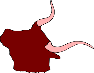 Ox Head With Horns Clip Art