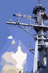 Standard Missile Launch From Ddg 56 Clip Art