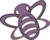 Purple And Yellow Bee Clip Art