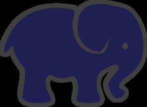 Navy Blue Elephant Clip Art at Clker.com - vector clip art ...