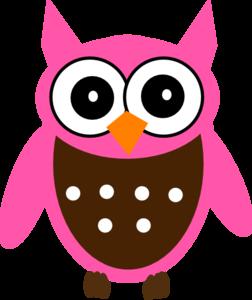 Cute Pink Owl Clip Art At Clkercom Vector