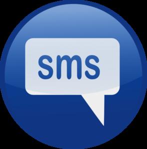 Blue Sms Icon Clip Art