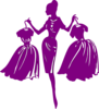 Purple Shopper Clip Art