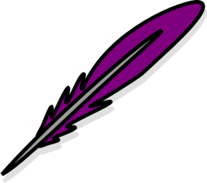Purple Feather Clip Art