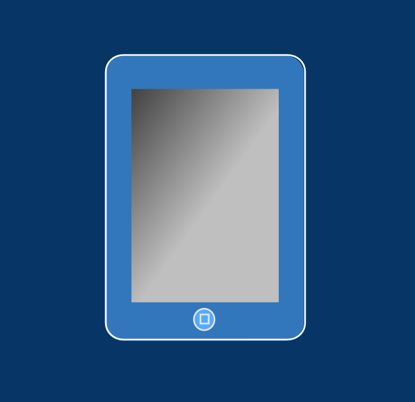 Blue Ipad With Box Clip Art at Clker.com - vector clip art online ...