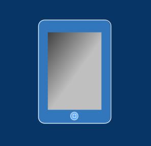 blue ipad with box clip art at clkercom vector clip art